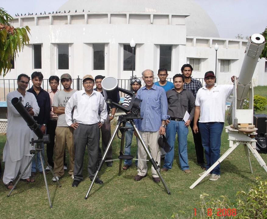 Met Amateur Astronomers at a Partial Solar Eclipse 1-Aug-2008