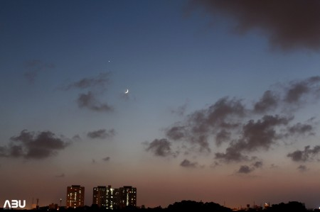 Karachi,Pakistan: Moon with Spica, Venus and Saturn on 8th September 2013