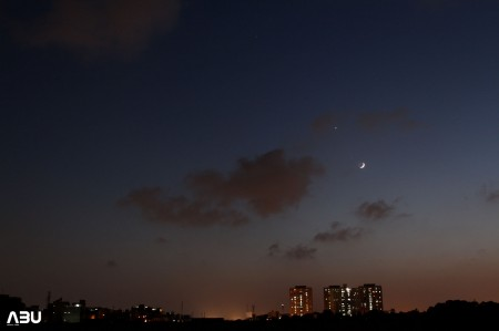 Moon with Spica, Venus and Saturn