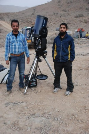 Me and Mr. Naveed Merchant with Meade Lx200