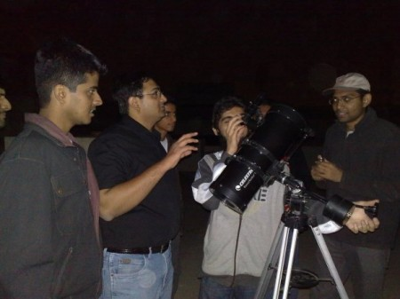 Astronomy Session at Mehdi bhai office
