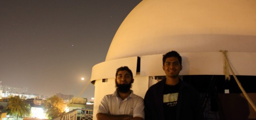 Abubaker(me) and Ramiz and observatory