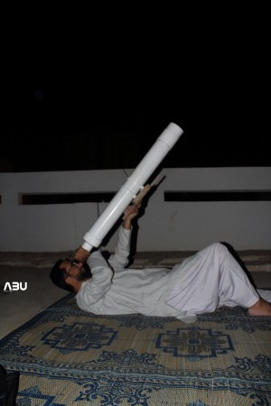 Abubaker's Homemade telescope first light by Imran Rasheed. Hand Held