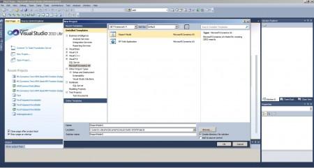 Create Report Model project in Visual Studio