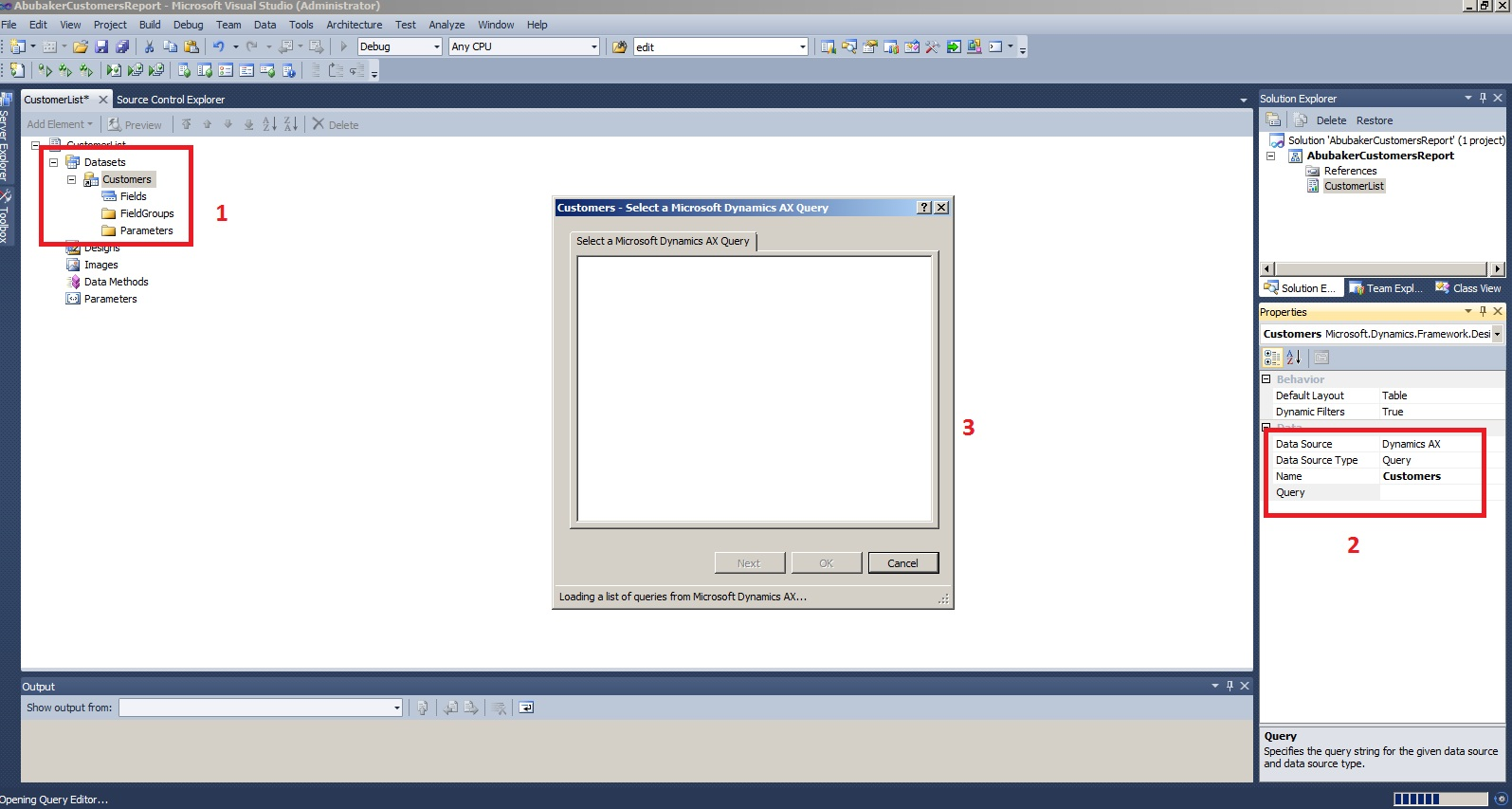 Create SSRS Report (Query based) – MS Dynamics AX – Abubaker