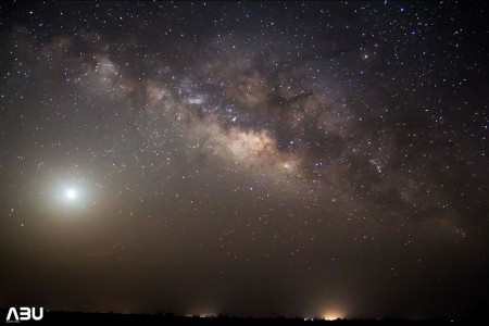Milky Way and the blazing Venus