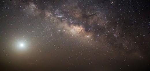 Milky Way and the blazing Venus