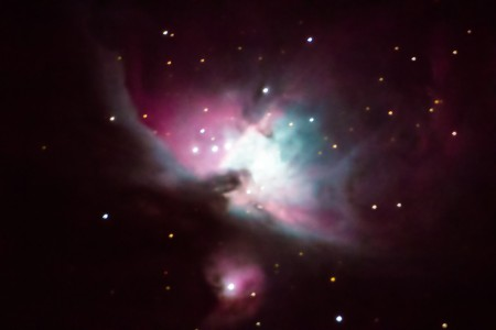 Orion Nebula (m42) at 1000mm focal length