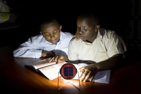 When lights goes off use solar powered emergency lights