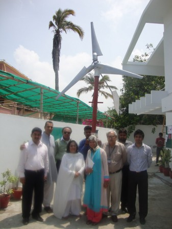 Wind turbine working model at SZABIST research centre