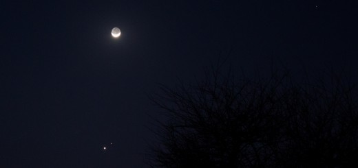 Moon, Venus and Mars Conjunction