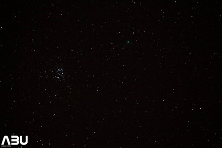 M45 (The Pleiades) and COMET Lovejoy from Pakistan