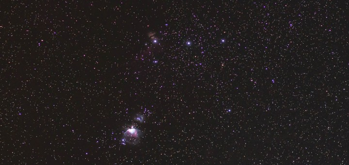 Orion's Belt and Orion's sword
