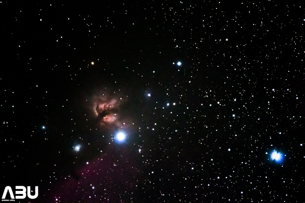 Flame nebula and Horse head nebula