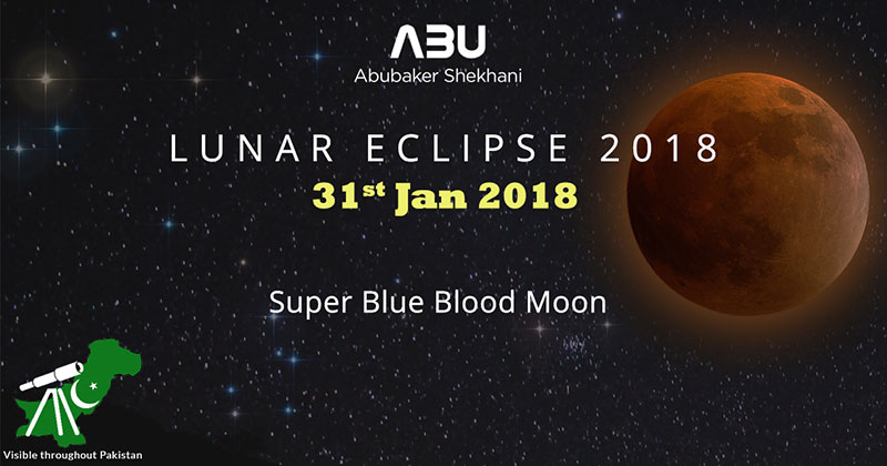 Total Lunar Eclipse 2018 in Pakistan